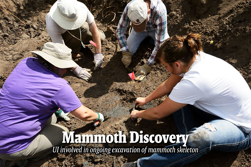 Mammoth Discovery--UI involved in ongoing excavation of mammoth skeleton
