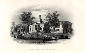 "A view of the ""Iowa State University"" campus in Iowa City"