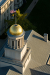 The golden dome of Old Capitol is an iconic presence on campus.