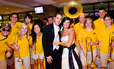 A Match Made…on Campus  Iowa fans make the University part of their big day